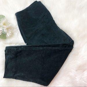 LL Bean corduroy black pants Petite